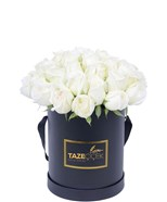 Perfect White Roses Box Flowers